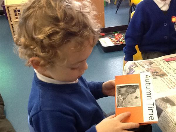 Autumn books - I'm going to read this to mummy!