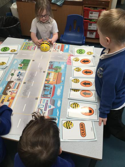 Beebot about to begin his journey!