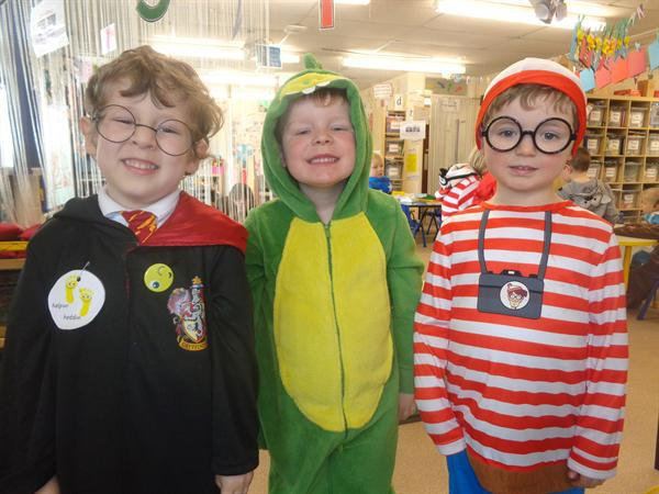 Harry, Dinosaur and Wally on World Book Day