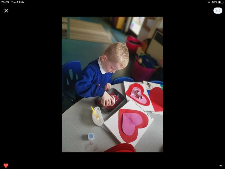concentric heart for Diwrnod Santes Dwynwen