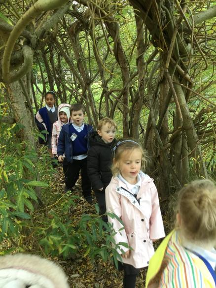 There was also a willow tunnel