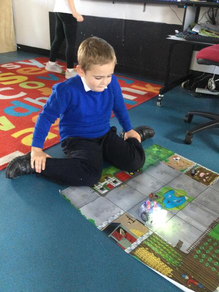 We gave Beebot instructions on where to move