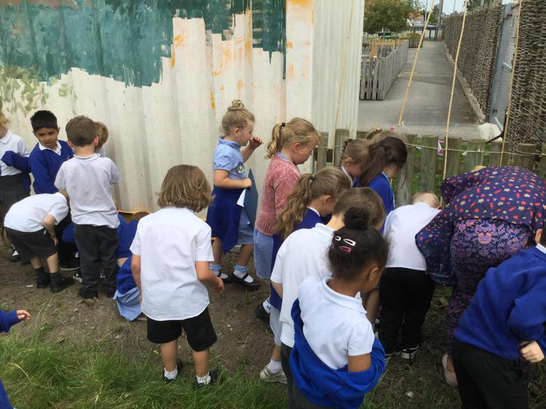 As part of this week we went on a minibeast hunt