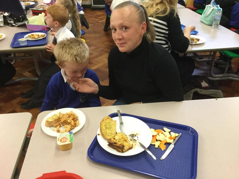 It was great to eat alongside our Mums and Dads