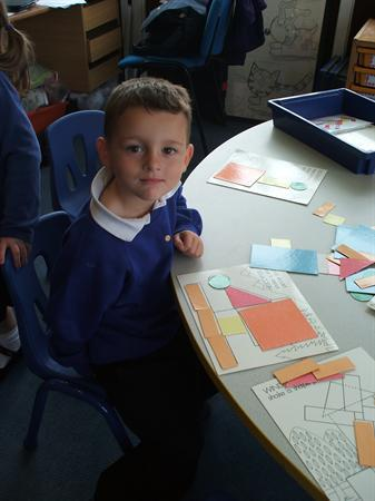 October - Lewis working with 2D shapes