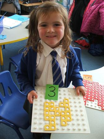 September - Matching numicon shapes to the number