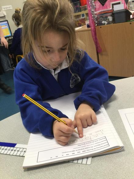 We sequenced the story using words like 'First', 'Next', 'Then' and 'Finally'