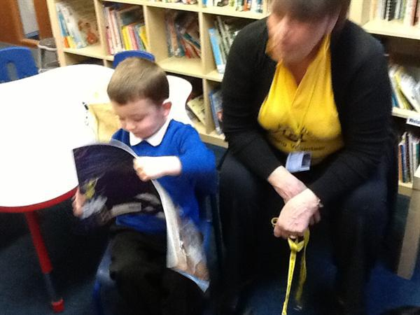 Reading with Irene and Jazz