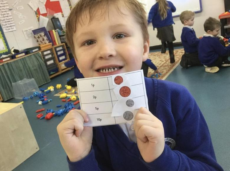 We have been learning to recognise coins