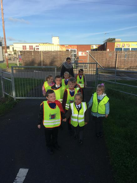 Setting off on our litter picking mission