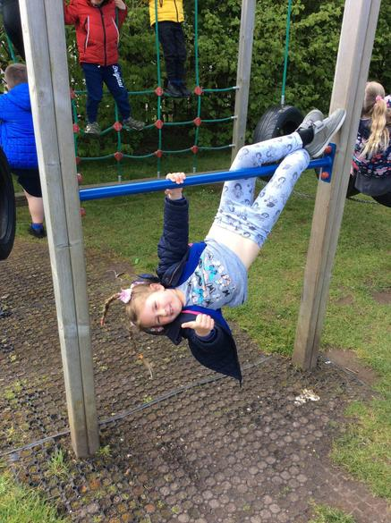 Outdoor play on the climbing frame!