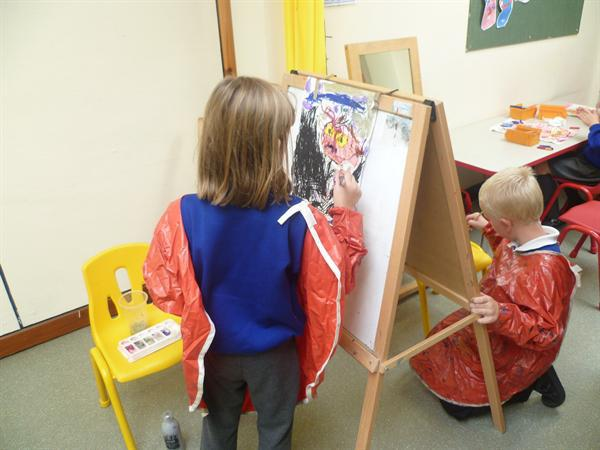 Lily enjoying some arty time