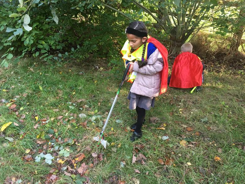 We loved using the litter picking sticks