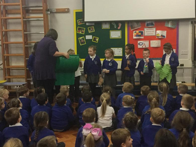 Pastor Ben and Jo helped us remember the story