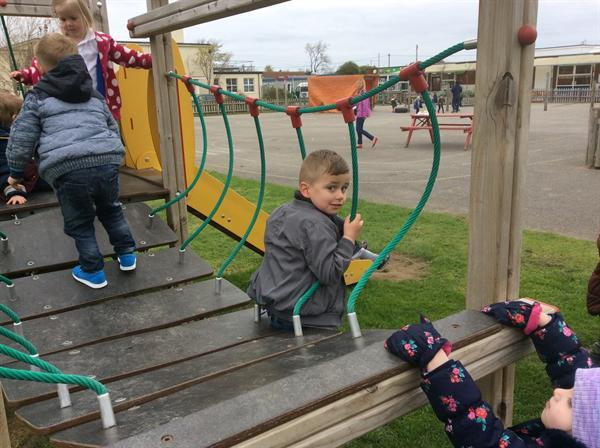 On the Climbing frame