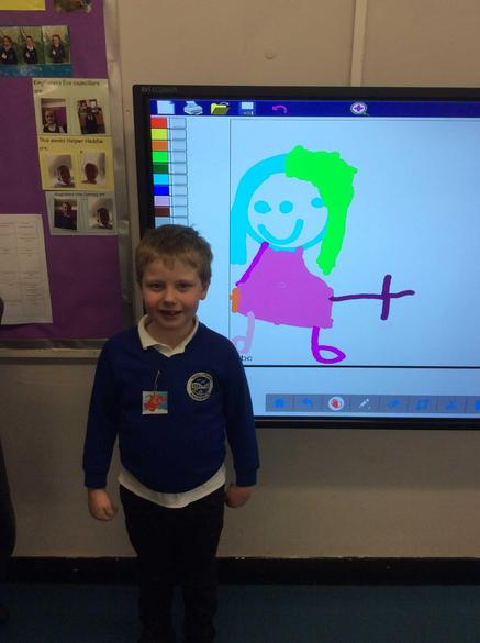Drawing pictures of our Mum's!