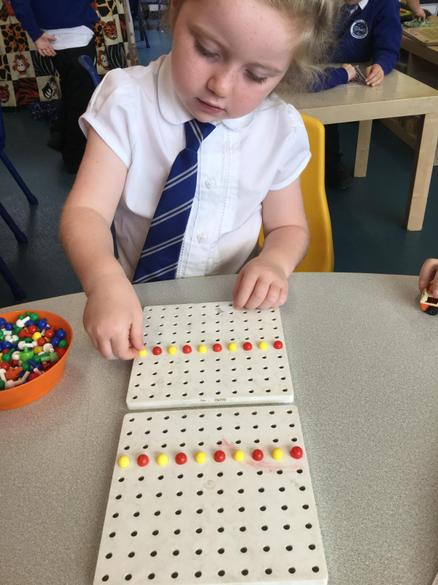We had to concentrate to copy repeating patterns