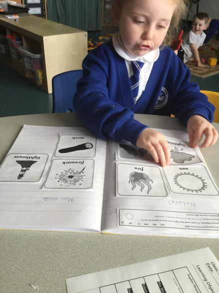 We have been learning about sources of light