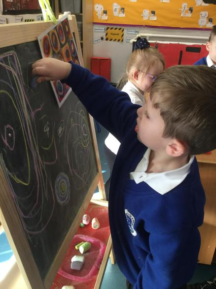 Our artist easel is great for drawing the picture