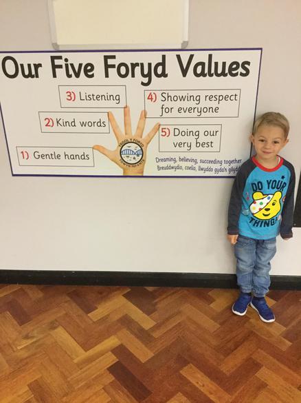 I followed the Y Foryd values
