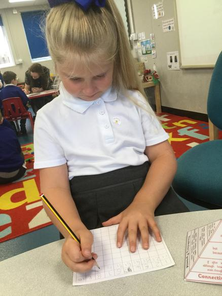 We practised writing our numbers