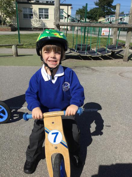 We love using the balance bikes to keep fit.