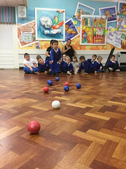 Mark also taught us how to play Boccia.