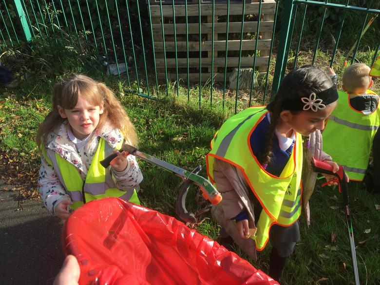 We were litter picking for nearly 2 hours!