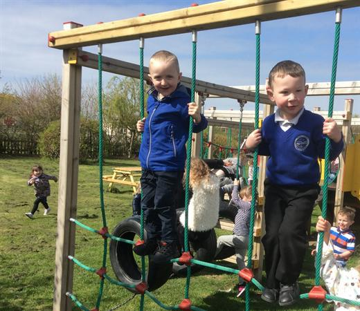 On the Climbing frame 4