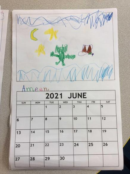 We designed our own picture for the calander!
