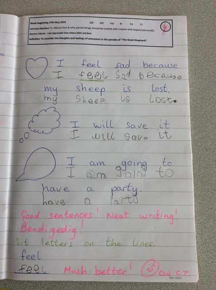 Our response to the story of The Lost Sheep!