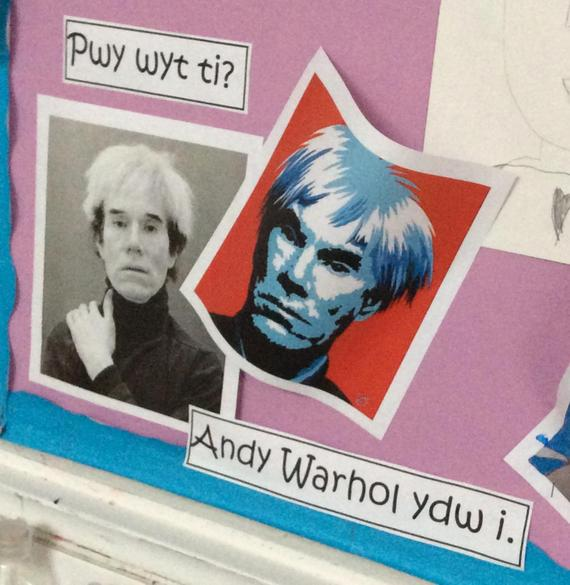 Art in the style of Andy Warhol