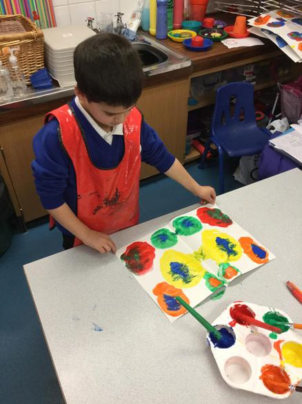 Printing to make a symmetrical painting