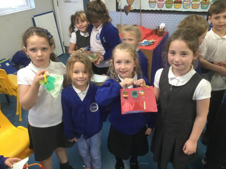 We were very proud of our finished products