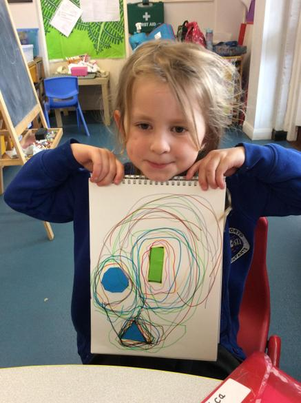 Using 2D shapes.