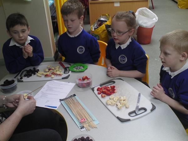 Fairtrade Week - fruit kebabs