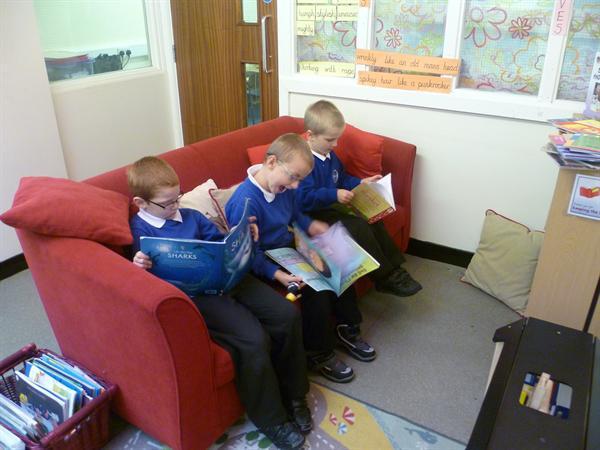 Sept 2012 - Enjoying a book.