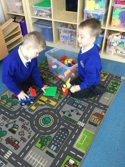 Exploring in our new classroom