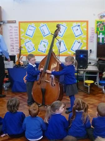 We played the double bass!