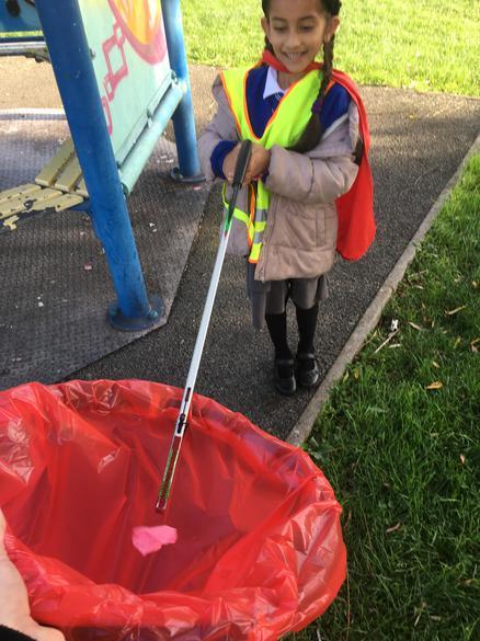 Litter picking is underway
