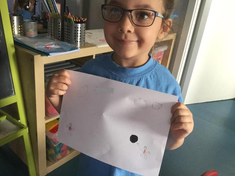 """This activity was, """"Draw a dot, see where it goes"""""""