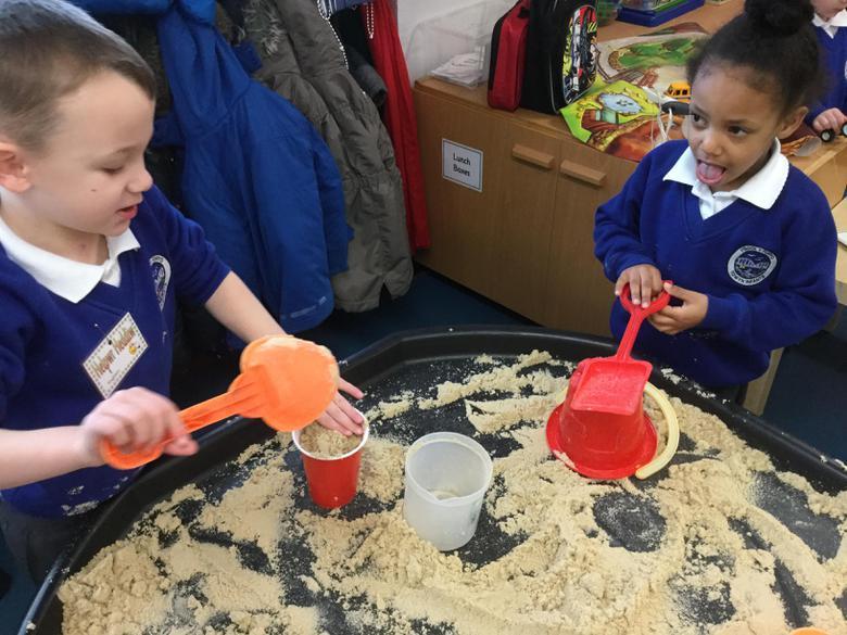 ...we got to make sandcastles!