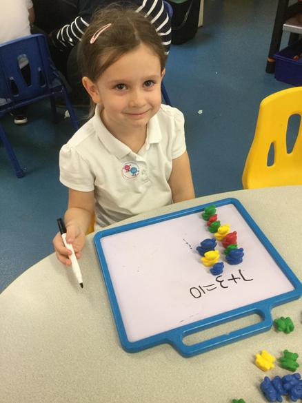 We have been learning to add numbers together