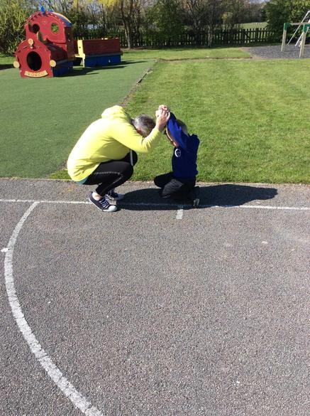 Making shapes with a partner!