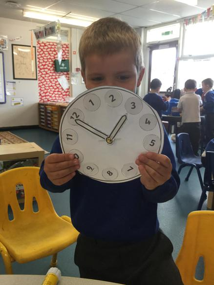 We used the clocks to learn to tell the time