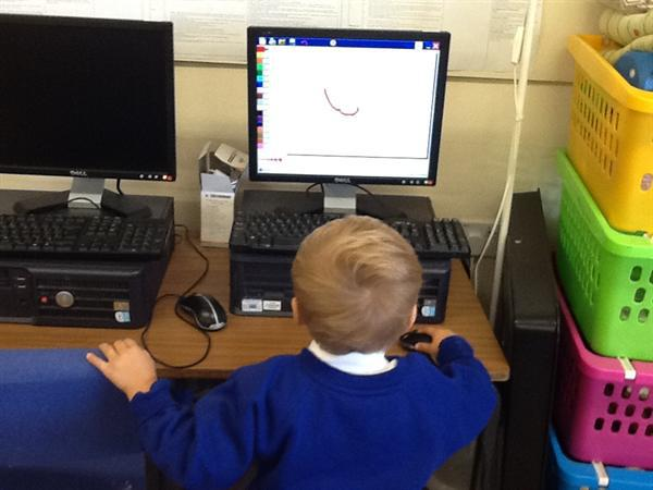 We are developing our mouse skills.