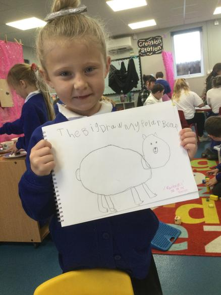 'I am so proud of my drawing'