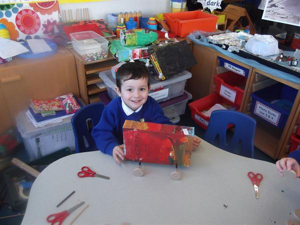 Our very own hand made racing cars