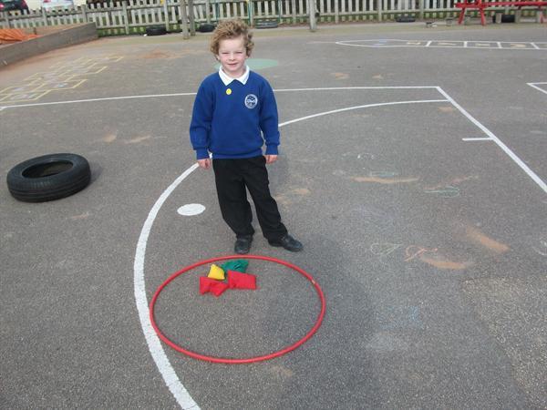 Our shape walk- we found a circle
