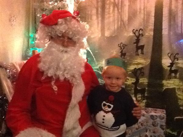 Seeing Santa was great